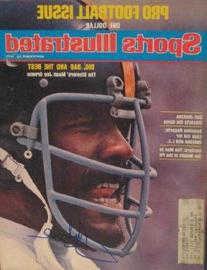 """Mean"" Joe Greene autographed Sports Illustrated Magazine"