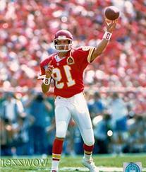Joe Montana Kansas City Chief NFL Hologram 8x10 Color Glossy