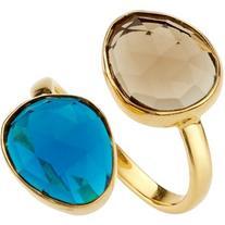John Lewis Gemstones Double Semi Precious Stone Ring , Blue
