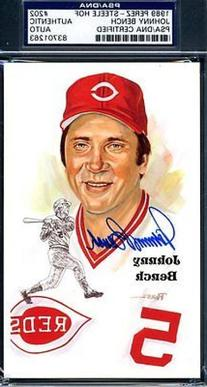 Johnny Bench Psa/dna Authenticated Signed Perez Steele