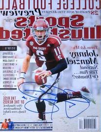 Johnny Manziel autographed Sports Illustrated Magazine