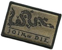 Join Or Die Tactical Patch - Coyote Tan by Gadsden and