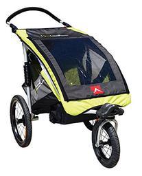 Allen Sports JTX-1 Trailer/Swivel Wheel Jogger, Green