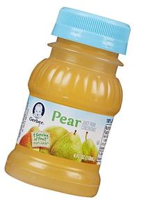 Gerber Juice - Pear - 4 fl oz - 24 pk