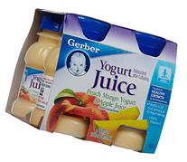 Gerber Juice Peach Mango Apple Yogurt 4 OZ