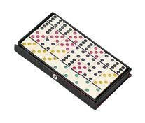 Jumbo Ivory Double Six Dominoes with Color Dots