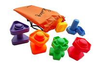 Jumbo Nuts and Bolts Set with Tote 12 Pc by Skoolzy -