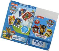 Paw Patrol Jumbo Playing Cards and Puzzle in Collectible Tin
