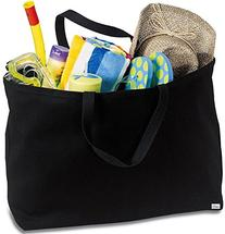 Joe's USA Jumbo Tote Bag a Sturdy 10-ounce Cotton Oversized
