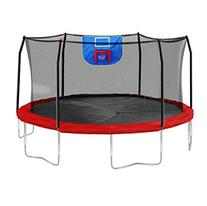 15-Feet Jump N' Dunk Trampoline with Safety Enclosure and