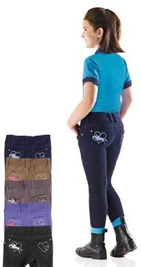 Ovation Jumping Heart Jean Tights - Kids - Size:Small Color: