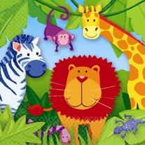 Amscan Colorful Jungle Animals Birthday Party Lunch Napkins