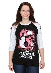 Jungle Book Dancing Womens Raglan Shirt