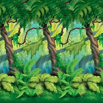 Jungle Trees Backdrop Party Accessory