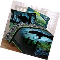 Jurassic World 5pc Full Comforter and Sheet Set Bedding