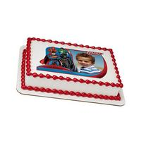 The Justice League Super Hero Edible Frame Cake Image Topper