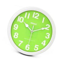 JustNile Round 8-inch Non Ticking Wall Clock - Lime Green