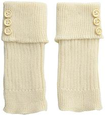 K. Bell Women's Turn Cuff and Button Boot Cuff, Off-White, 9
