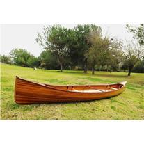 Old Modern Handicrafts K002 18' Real Canoe in Brown
