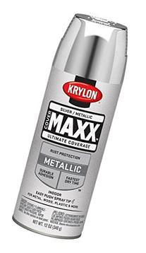 Krylon K09196000 COVERMAXX Spray Paint, Metallic Silver, 11