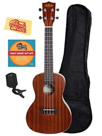 Kala KA-C Mahogany Concert Ukulele Bundle with Gig Bag,