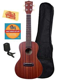 Kala MK-C Makala Concert Ukulele Bundle with Gig Bag, Clip-
