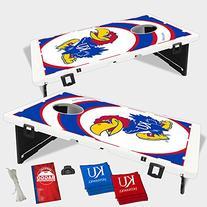 Kansas Jayhawks Vortex Baggo Bean Bag Toss Portable Cornhole