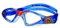 Aqua Sphere Kayenne Junior Goggles, Blue/Orange, Clear