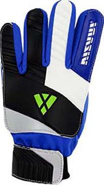 Vizari Junior Keeper Glove, Blue/White/Black, Size 4