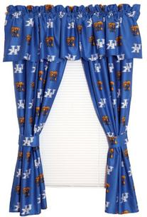 College Covers Kentucky Wildcats Printed Curtain Panels, 42