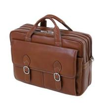 McKleinUSA KENWOOD 15564 Brown Leather Double Compartment