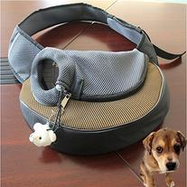 Khaki Portable Pet Dog Cat Puppy Safety Carrier Case Comfort