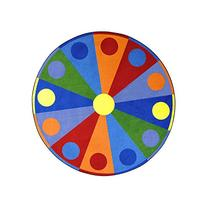 Joy Carpets Kid Essentials Early Childhood Round Color Wheel