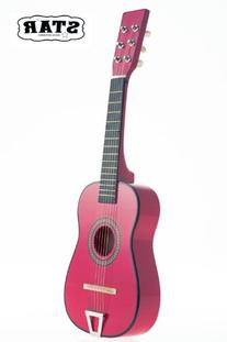 Star Kids Acoustic Toy Guitar 23 Inches Color Hot Pink, MG50