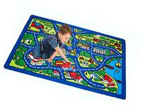 Kids Rug Street Map Blue Area Rug 5' x 7' Children Area Rug