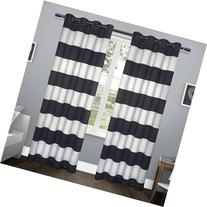 Exclusive Home Kids Rugby Stripe Top Curtain Panel Pair