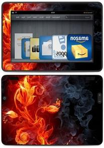 """Kindle Fire HDX 7"""" Decal/Skin Kit, Flower of Fire"""