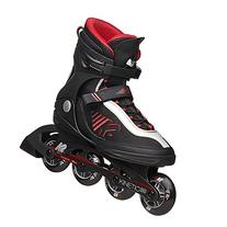 K2 Skate Men's Kinetic 80 Inline Skates, Black, 12