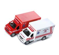 "KINSFUN DISPLAY RESCUE TEAM 5"" Ambulance and fire department"