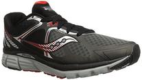 Saucony Men's Kinvara 6 Running Shoe, Black/Grey/Red,8 M US