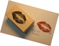 Kiss rubber stamp P6