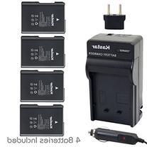 Battery  and Charger Kit for Nikon EN-EL14, EN-EL14a, MH-24