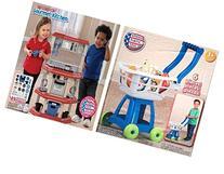 Kids Kitchen and Shopping Cart Set