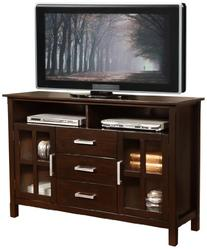 Simpli Home 3AXCRIDTVS Kitchener Solid Wood Tall TV Media