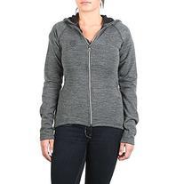 66 North Women's Kjolur Light Knit Hooded Jacket, Charcoal,