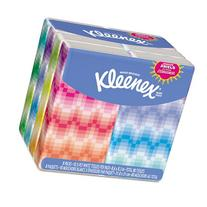 KLEENEX Facial Tissue Pocket Packs, 3-Ply, White, 10 Sheets/