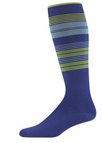 Wigwam Knee High Ski Sock Snow Halo, Azure Blue, MS