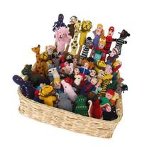 Knit Finger Puppets Assortment Bag of 25 Free Worldwide