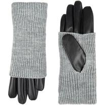 Accessorize Knit And Leather Glove