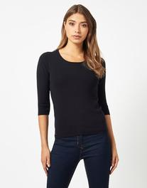 Morgan Knit Sweater With Lace Back Detail